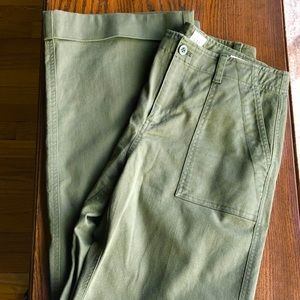 Gap Olive Army Green High Rise Wide Leg Chino 10T
